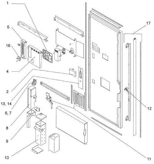 door assembly. Black Bedroom Furniture Sets. Home Design Ideas