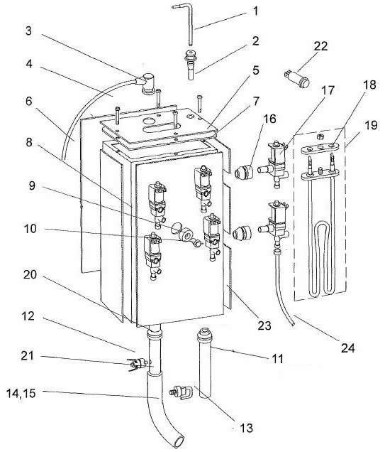 heater tank assembly. Black Bedroom Furniture Sets. Home Design Ideas